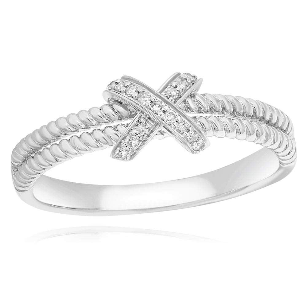 Rope Ring With Diamond X