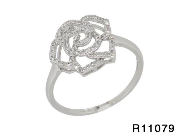 Pave Diamond Rose Ring