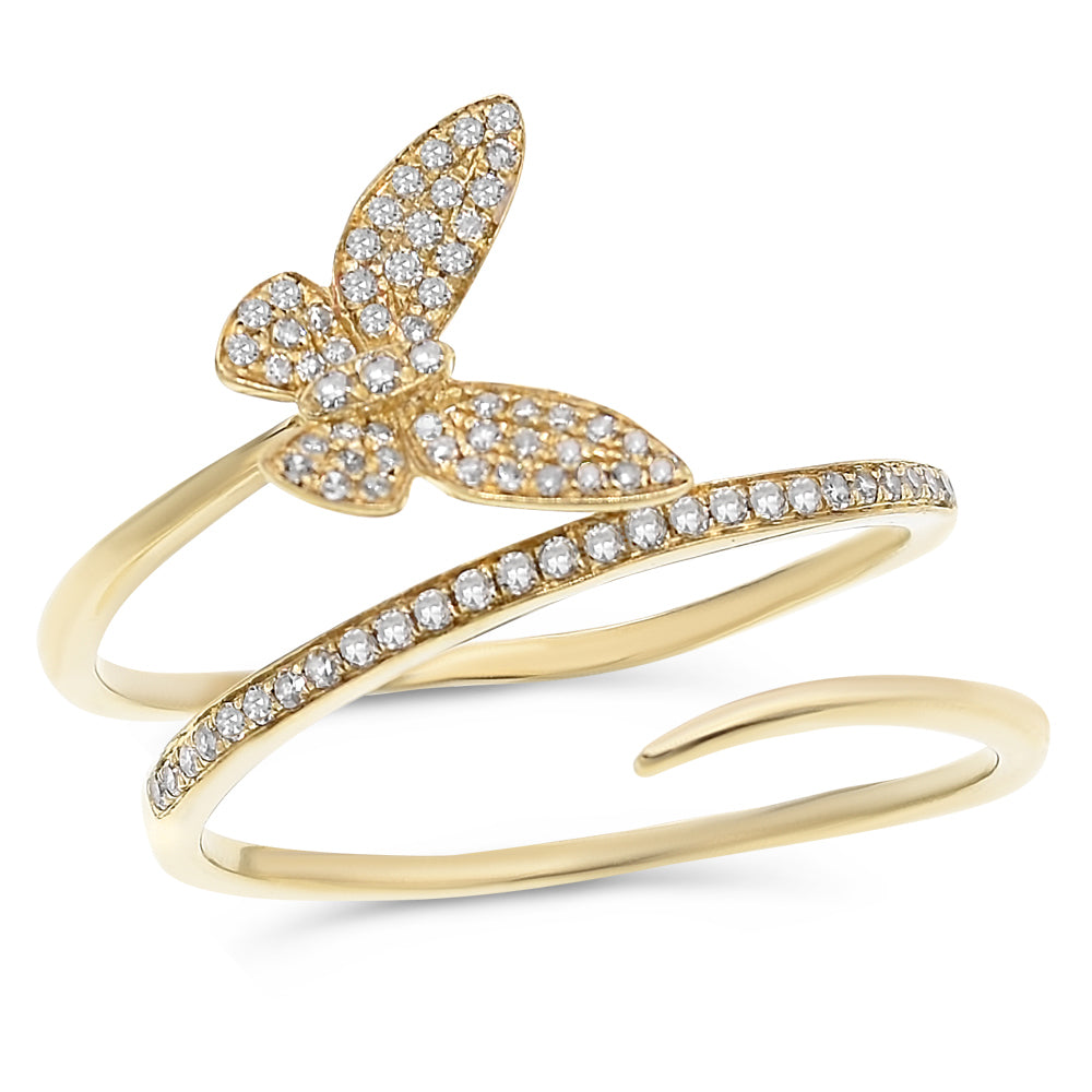 Flying Butterflty Wrap Ring