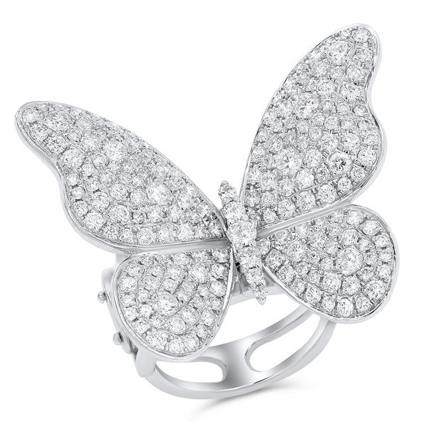 Jumbo Pave Diamond Butterfly Ring