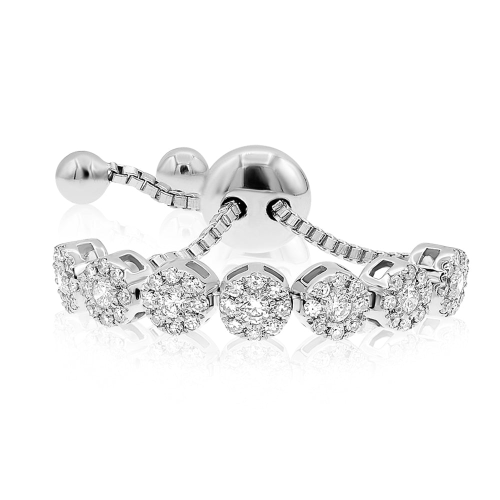7 Diamond Section Pull Tie Ring