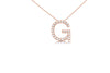 Large Block Initial Pendant Necklace with Diamonds