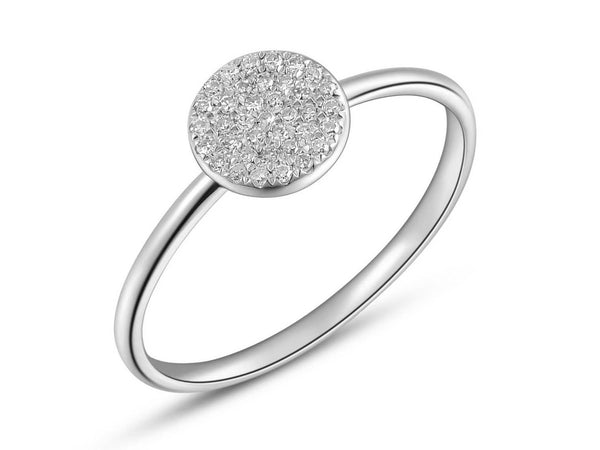 Pave Diamond Round Ring