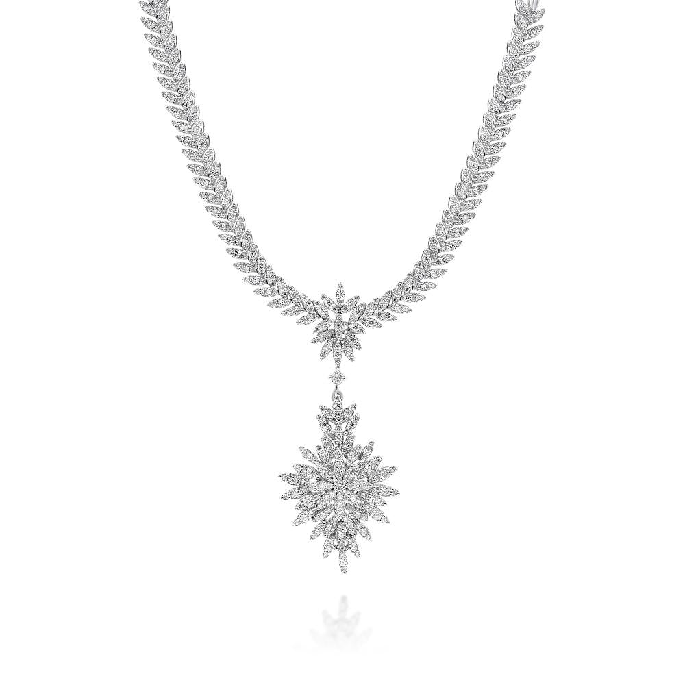 Diamond Cluster Necklace