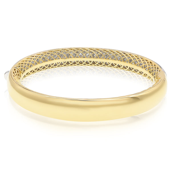 Wide Pave Diamond Bangle Bracelet