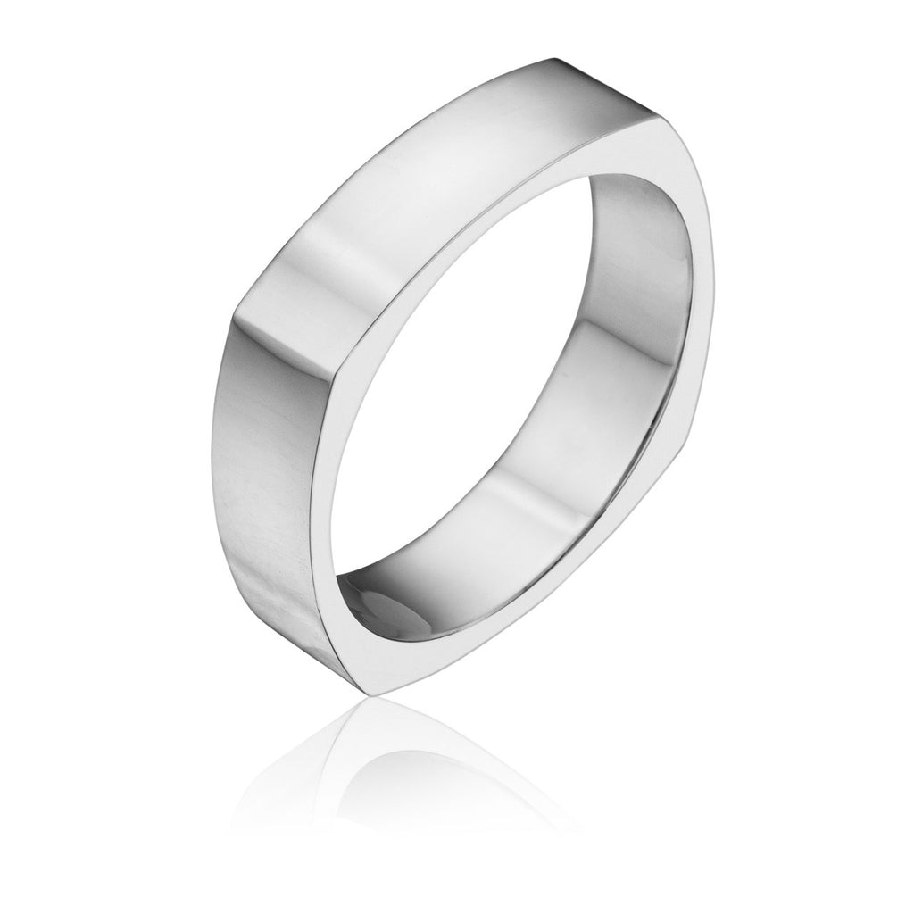 Men's 5MM Four Sided Wedding Band