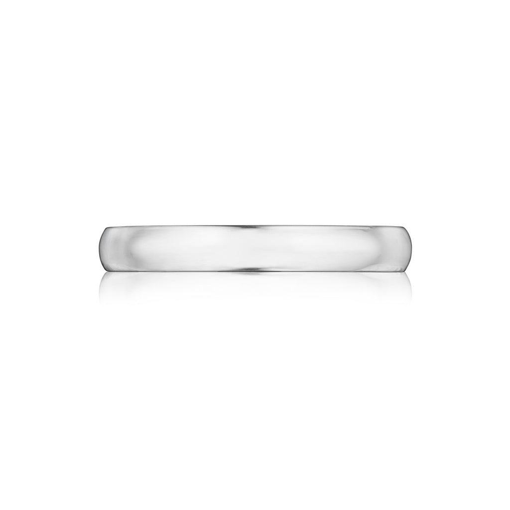 Mens 3MM Half Round Comfort Fit Wedding Band