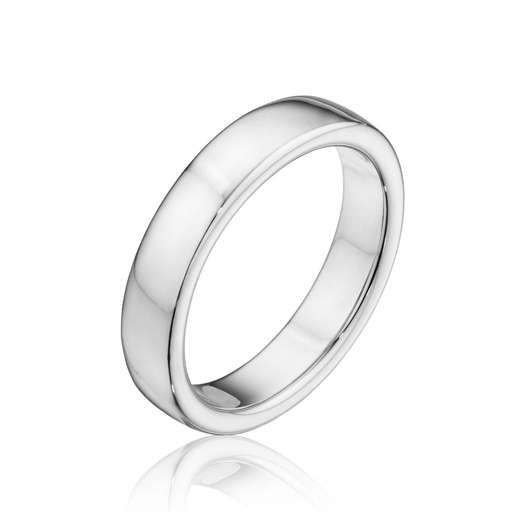 4.5MM Elevated Profile Wedding Band