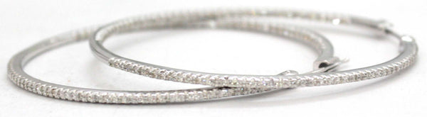 Large Diamond Pavé Hoop Earrings