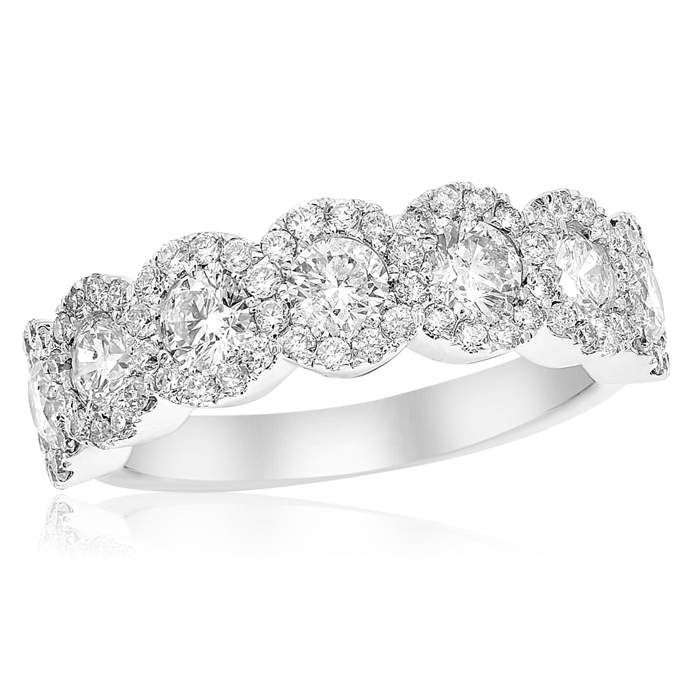 Halo Band With Diamonds