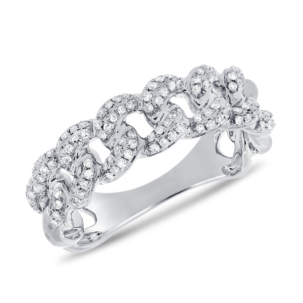 Pave Diamond Heavy Link Ring