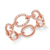 Delicate Alternating Pave Diamond Link Ring