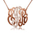 Large Monogram Necklace With Diamond Encrusted Center Initail