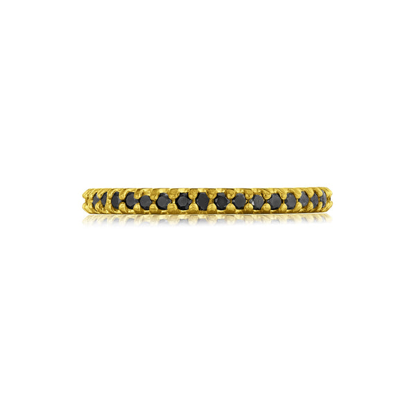 2.25mm Black Diamond Pavé Eternity Wedding Band