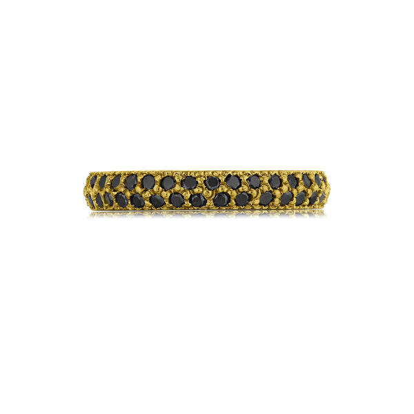 3.25mm Black Diamond Pavé Eternity Band