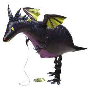 Drache, schwarz, Walking Balloon 114 cm
