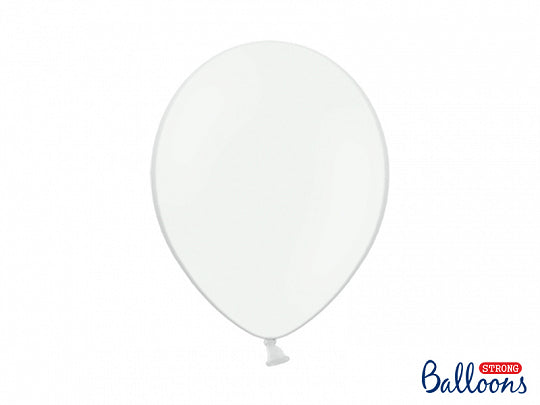 Strong Balloons 10pcs pastel white 30cm