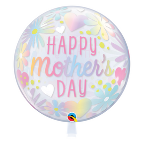 "Single Bubble ""Happy Mothers Day"" floral pastel"