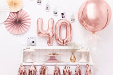Laden Sie das Bild in den Galerie-Viewer, 40cm Foil Balloons Ball rose-gold