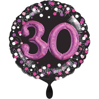 Multi Balloon Sparkling 30 pink -3D
