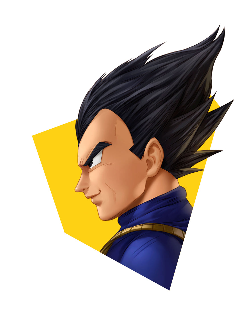 Vegeta Head Shot by Dominic Glover