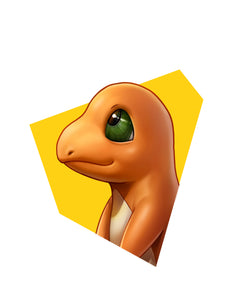 """Charmander"" Head Shot by Dominic Glover"