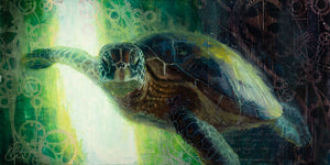 """Crush the Hawksbill Sea Turtle"" by Christopher Clark PAPER & CANVAS AVAILABLE"
