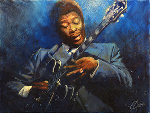 """BB KING"" by Christopher Clark - PAPER & CANVAS AVAILABLE"
