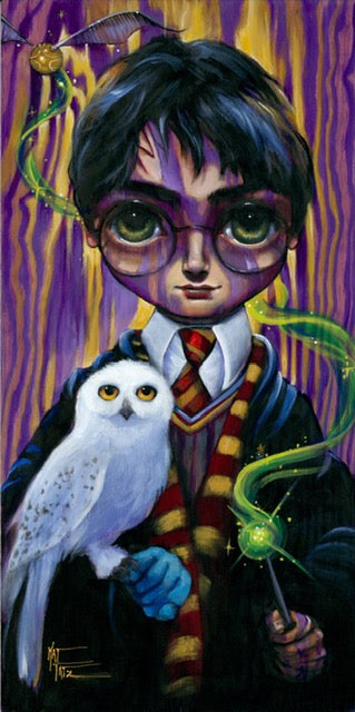 Big Eyes Harry Potter by Kat Tatz