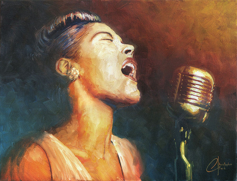 Billie Holiday by Christopher Clark