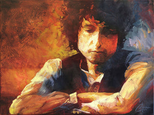 """Bob Dylan"" by Christopher Clark - PAPER & CANVAS AVAILABLE"