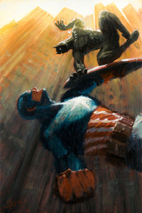 """Captain America vs Black Panther"" by Christopher Clark - PAPER & CANVAS AVAILABLE"