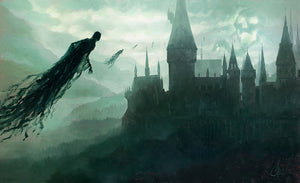 """Dark Times at Hogwarts"" by Christopher Clark PAPER & CANVAS AVAILABLE"