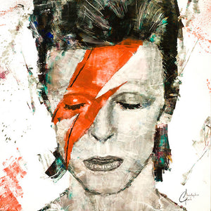 """David Bowie"" by Christopher Clark - PAPER & CANVAS AVAILABLE"