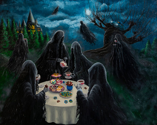 Dementor Tea Party Original Oil on Canvas by Anastasia G