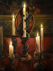 "The Candle Lighter 18""x24"" Oil on Wood Panel by Gadget"