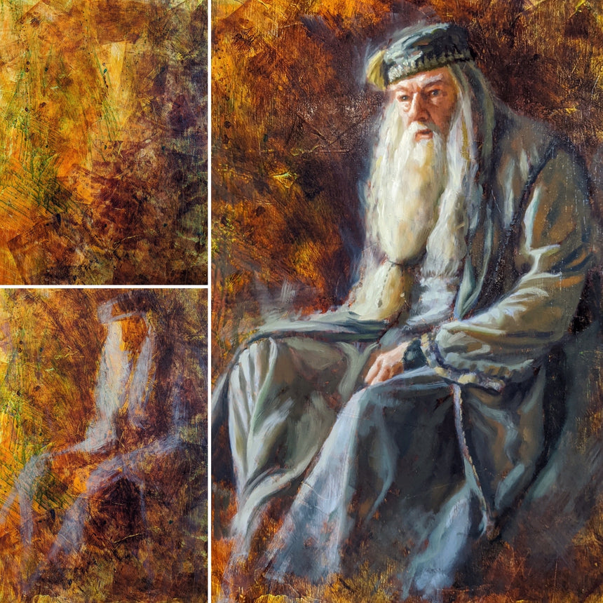SOLD Original: Hagrid Portrait by Christopher Clark - Watch Livestream Saturday Aug 1st