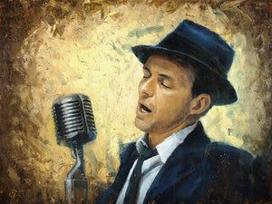 """Frank Sinatra - My Way"" by Christopher Clark - PAPER & CANVAS AVAILABLE"