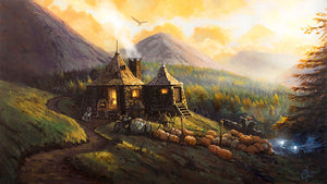 """Hagrid's Hut"" by Christopher Clark PAPER & CANVAS AVAILABLE"