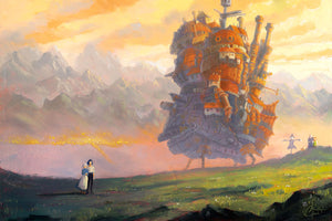 """Howl's Moving Castle"" Original 20""x30"" Oil on Wood Panel by Christopher Clark"