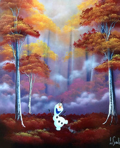 "Original ""Olaf"" 20""x16"" Graffiti Painting by Ash Schultz"