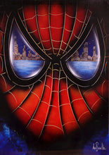 "Load image into Gallery viewer, ""Spiderman's Vision"" Original 20""x16"" Graffiti Art by Ash Schultz"