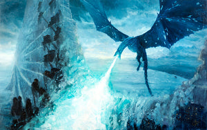 """Ice Dragon"" By Christopher Clark - PAPER & CANVAS AVAILABLE"