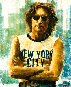 """John Lennon"" by Christopher Clark - PAPER & CANVAS AVAILABLE"