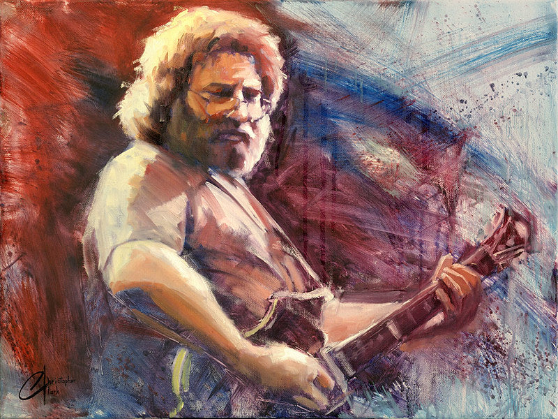 Jerry Garcia by Christopher Clark