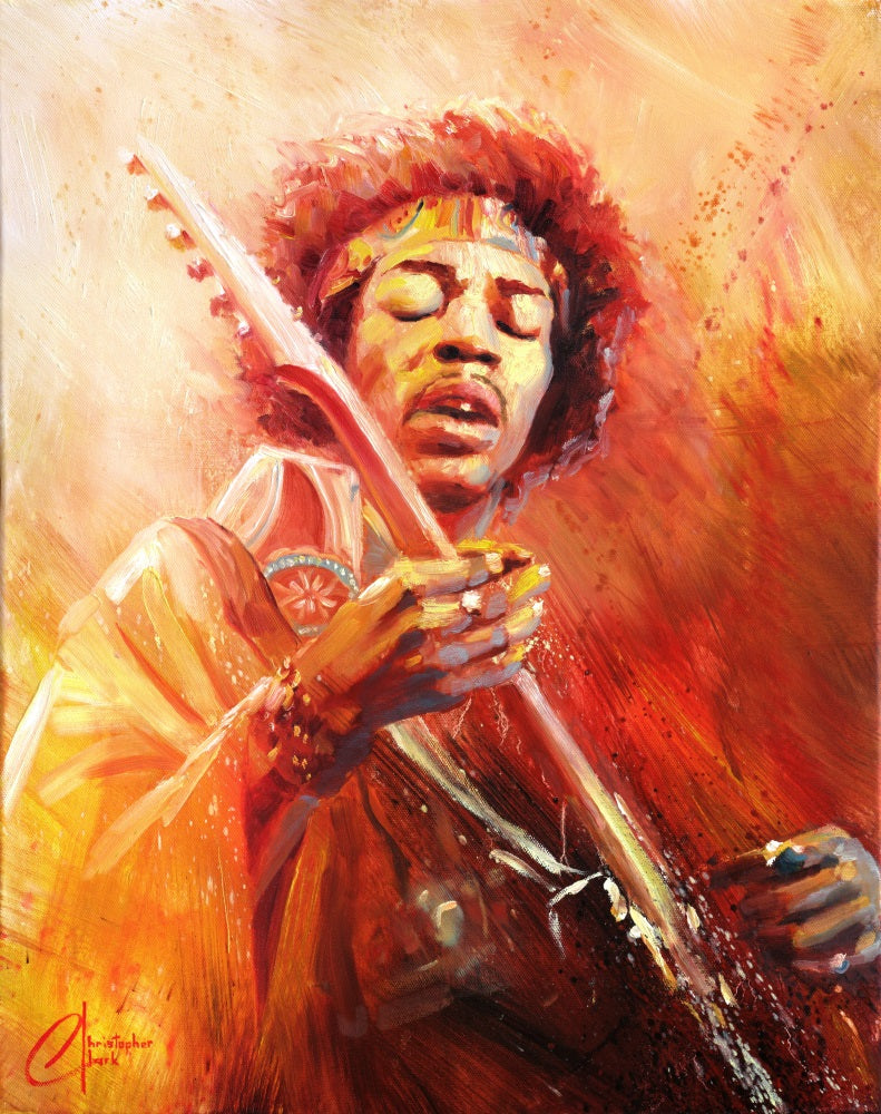 Jimi Hendrix by Christopher Clark