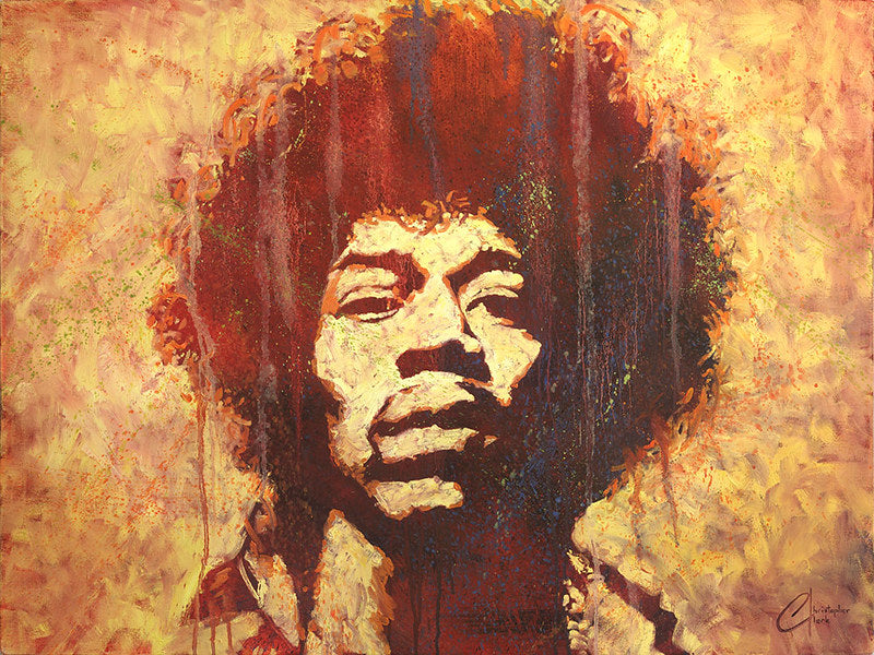Jimi Hendrix II by Christopher Clark