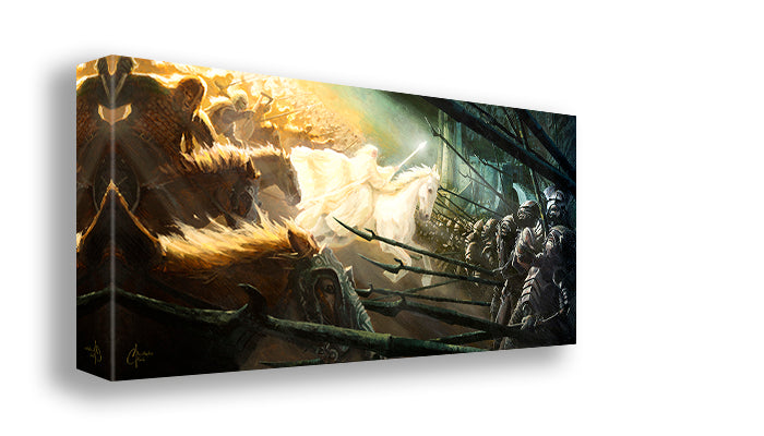 Gandalf's Charge at Helms Deep by Christopher Clark