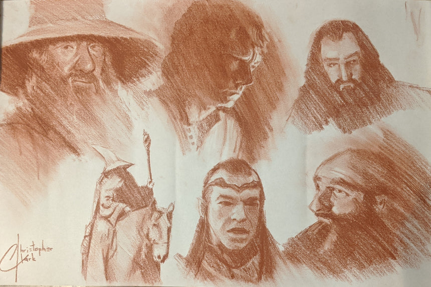 "SKETCH: Lord of The Rings/The Hobbit 11""x17"" by Christopher Clark"