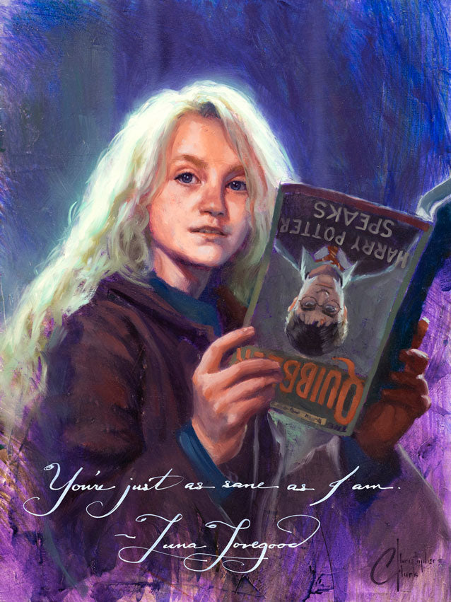 Luna Lovegood Portrait Series by Christopher Clark